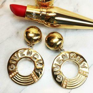 Givenchy Statement Hoop Dangle Earrings with Simul